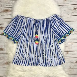 Lilly Pulitzer Tops - Lilly Pulitzer Sain Off The Shoulder Top UU1215